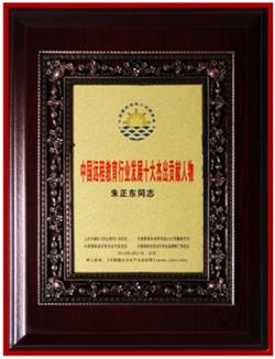 """正保远程教育CEO朱正东先生荣获""""中国远程教育行业发展十大杰出贡献人物""""奖"""